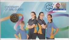 More details for coin & stamp cover  2010 australian  1 dollar centenery girl guides auspost