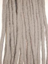 Grey Dreadlocks - 16 Handmade felted merino wool double ended dreads