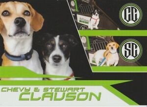 "2016 Bryan Clauson Dogs ""Chevy & Stewart"" Indy Car USAC Sprint Hero Card"
