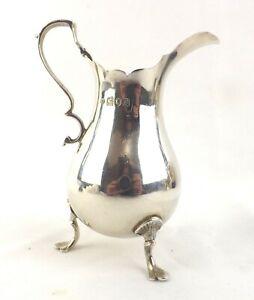 Art Nouveau Jug Solid Sterling Silver Arts & Crafts Robert Stebbings London 1910