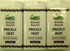 Snake BRAND Prickly Heat Lavender Cooling Powder Travel Size 50g