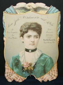 1887 Lone Jack Cigarette Co., Lynchburg, VA Die Cut Calendar Pad Print