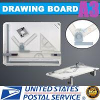 Pro A3 Drafting Drawing Board Ruler Table Tool Set Adjustable Angle US SHIP
