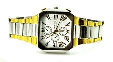 Montres Carlo Wristwatch White Roman Dial Quartz WR Two Tone 40mm