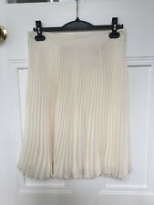 Whistles Cream Pleated Skirt Size 10/12 Brand New