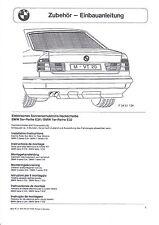 BMW E32 E34 EBA Einbauanleitung elektrisches Sonnenschutzrollo Sonnenrollo
