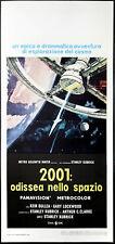 """CINEMA-locandina 2001: ODISSEA NELLO SPAZIO """"2001: A Space Odyssey"""" s. kubrick"""