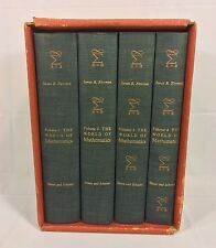 The World of Mathematics 4 Volumes by James Newman 1st Edition 1956 in Slipcase
