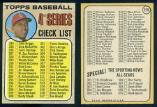 (37521) 1968 Topps 278 Checklist 284-370 Orlando Cepeda CR Left Cardinals-EM