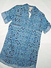 Philosophy Women's Denim Tencel Shirtdress / Tunic Size Small Regular S Aztec