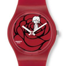 SWATCH GZ264 My Heart Red Rose Only You Rare Swiss Made Plastic Watch