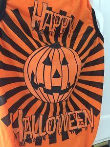 Dog Costume Happy Halloween T-Shirt - Sz Lg