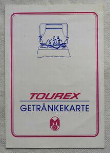 Original DDR Mitropa DR Getränkekarte 20 Jahre Tourex Reichbahn Speisewagen 1982
