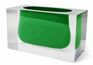 Jonathan Adler - Lucite Vase - Bel Air Gorge - Emerald Green