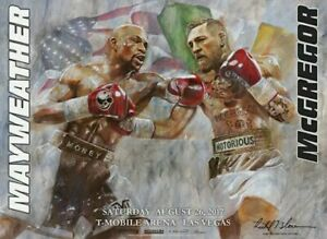 Rare MAYWEATHER McGREGOR Limited Edition LE fight poster Richard T. Slone Art