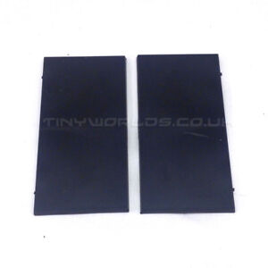 100 x 50mm Square Black Plastic Bases x 2 - Warhammer Slotta Base Rectangular