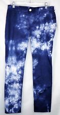 "David Kahn Womens Nikki Ankle Skinny Jeans Purple Iceburg Blue Sz 30 Inseam 28"""