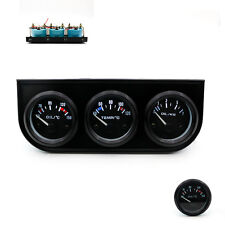 Triple Gauge Kit Car Pointer Meter Oil Pressure Oi Temp Water Temp for 12v Car