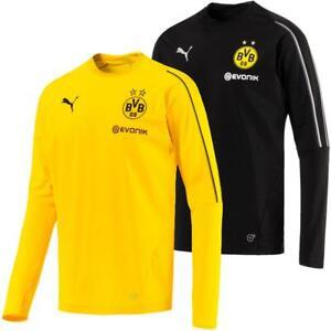 Puma BVB Borussia Dortmund Herren Training Sweat Top Langarm Trikot