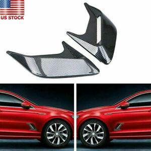 2PCS Carbon Fiber Color Car Hood Air Flow Fender Side Vent Decoration Sticker