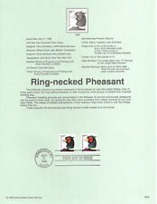 #9822 20c Ring-necked Phesant Stamp #3050 Souvenir Page