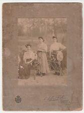 RARISSIMA FOTO CARTONATA FINE 1800 - E. Seffer & Figli - Palermo (22,5 X 16,5)