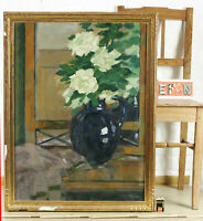 Kainer Oil Painting Antique Still Life Before Mirror Wardrobe Art Deco Or