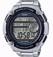 Casio AE-3000WD-1AVDF Digital Stainless Steel Silver Big Mens Watch