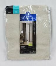 """Home Studio Soft Platinum Blackout Wallace Grommet Curtain Panel, 50""""x63"""""""