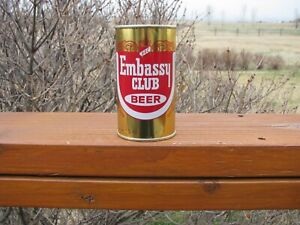EMBASSY CLUB Clean Flat Top Beer Can