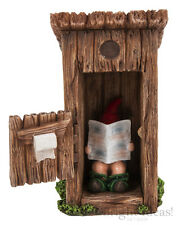 Vivid Arts - MINIATURE WORLD FAIRY GARDEN HOME ACCESSORIES - Gnome Outhouse