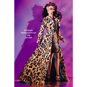 Todd Oldham Barbie Full Length Leopard Print Coat for Silkstone,Poppy Parker FR.