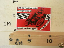 STICKER,DECAL TILBURG BEEKSE BERGEN INTERNATIONALE WEGRACES NO 1 ROADRACE RENNST