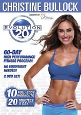 EVOLUTION 20 CHRISTINE BULLOCK 2 DVD SET WITH GUIDE 10 WORKOUTS EXERCISE NEW