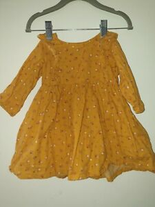 H&M, Baby Girl Yellow Floral Print Dress, 4-6 Months, used, Excellent Condition!