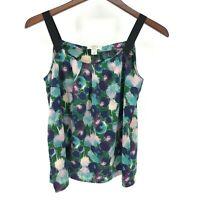 Ann Taylor Loft Small SP Petites Floral Watercolor Tank Strap Blouse Top
