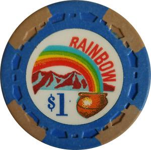 Rainbow $1 Casino Chip - California