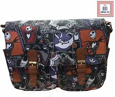 The Nightmare Before Christmas Jack Skellington Satchel Messenger Oilcloth Bag