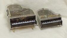 Music boxes - 1-Sankyo grand piano 2-Laurel jewelry box grand piano Plays My Way