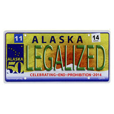 CS173 Alaska License Legalized Marijuana Weed Cannabis Color Bumper Sticker