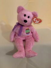 TY BEANIE BABY EGGS PINK EASTER BEAR ~RETIRED~ Mint Condition NWT