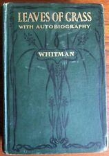 Leaves of Grass, by Walt Whittman, Hardcover, 1900