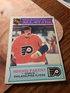 1974/75 Topps First Team All-Stars BERNIE PARENT Flyers Goalie Hockey INSERT
