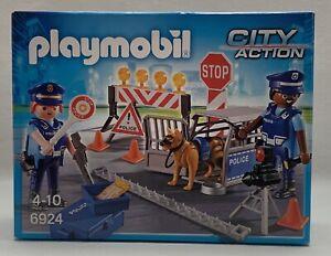(K375) PLAYMOBIL - REF 6924 - CONTROLE DE POLICE-CITY ACTION  NEUF DANS SA BOÎTE