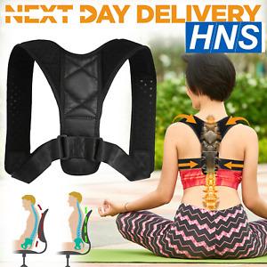 Posture Corrector Back Body Brace Adjustable Lumbar Shoulder Spinal Belt Support
