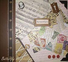 Vintage Theme Scrapbook 12''x 12'' Photo Album - NEW, 24963