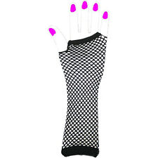 Arm Gothic Rock Neon Punk Girls Party Dance Gloves Long Fingerless Fishnet