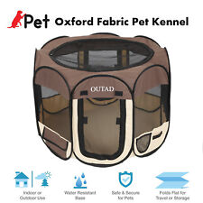 """Outad Foldable 45"""" Pet Dog Kennel Fence Puppy Playpen Exercise Pen Folding Crate"""