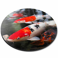 Round Mouse Mat - Koi Carp Pond Fish Japanese Office Gift #21765