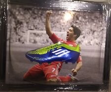 Signed Luis Suarez Liverpool Football Boot Display Barcelona Ajax Uruguay
